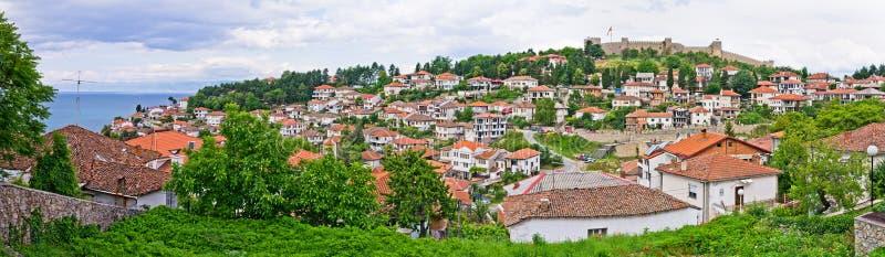 Panorama de Ohrid, Macedônia imagem de stock royalty free
