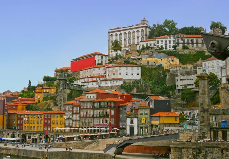 Panorama de Oporto viejo famoso en Portugal imagenes de archivo