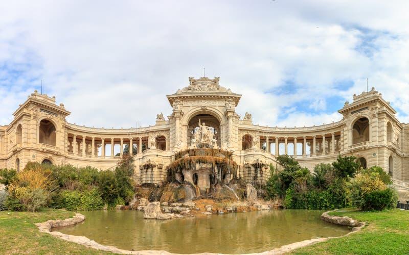 Panorama de Palais Longchamp em Marselha imagem de stock