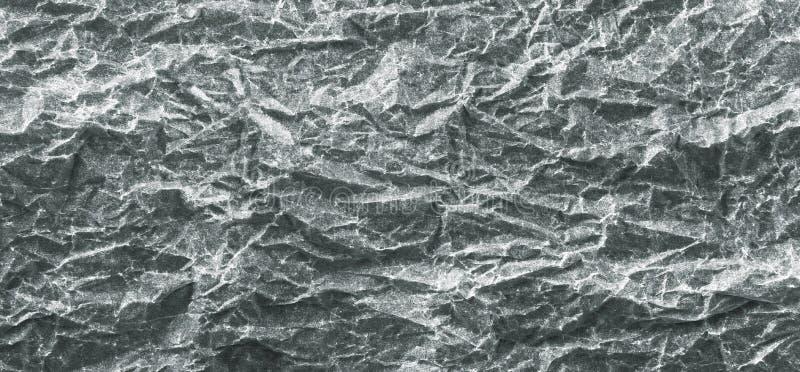 Panorama de papel arrugado gris del fondo foto de archivo libre de regalías