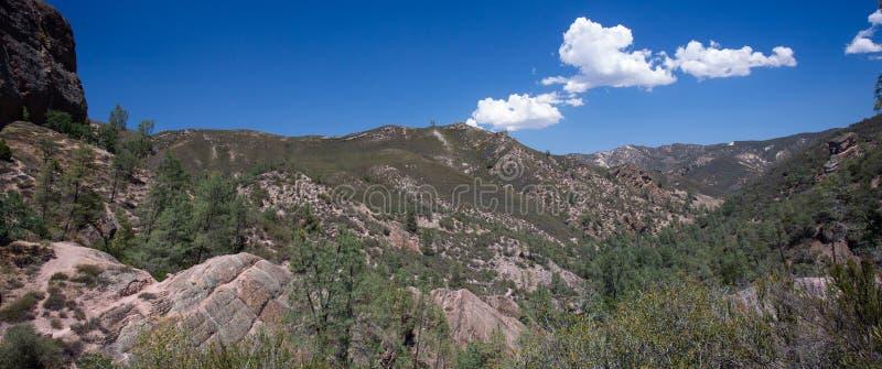 Panorama de parc national de sommets photo stock