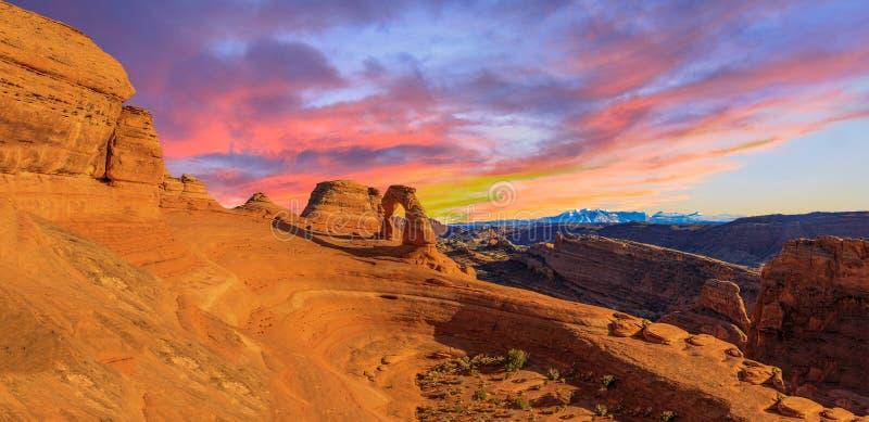 Panorama de parc national de voûtes photographie stock libre de droits