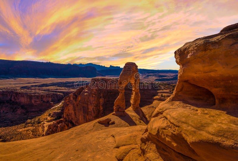Panorama de parc national de voûtes image libre de droits