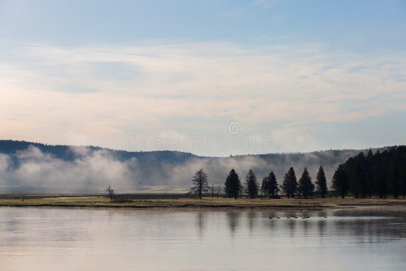 Panorama de parc national de Yellowstone image stock