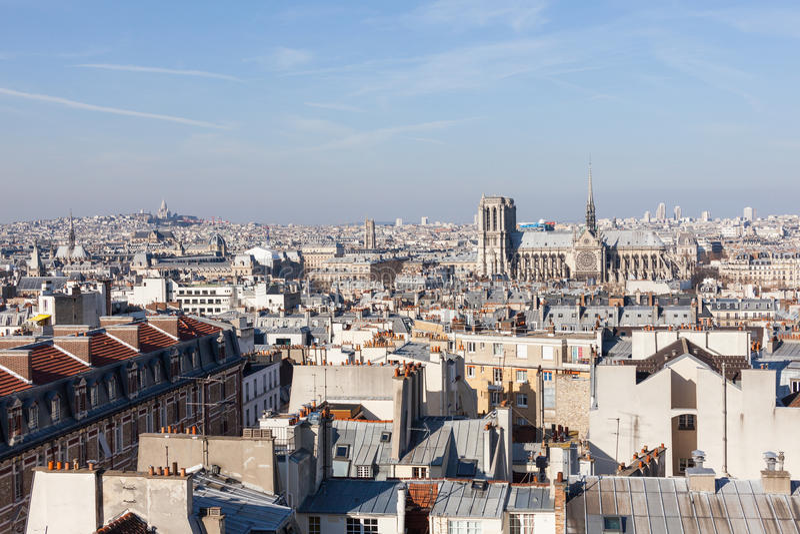 Panorama de Paris foto de stock royalty free