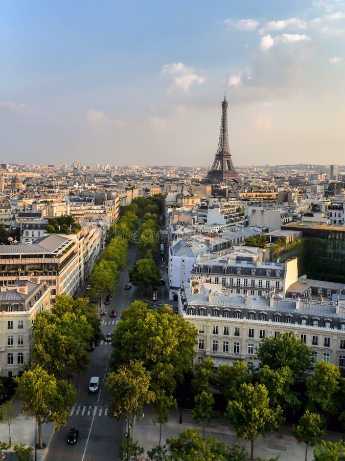 Panorama de Paris image libre de droits