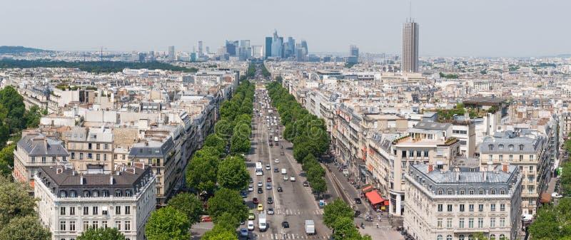 Panorama de Paris, França imagens de stock royalty free
