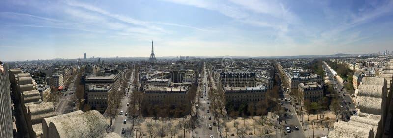 Panorama de Paris, França fotos de stock royalty free