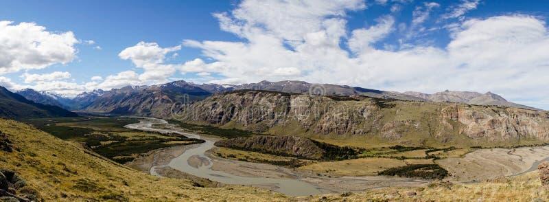 Panorama de Patagonia près d'EL Chalten, Argentine photos libres de droits