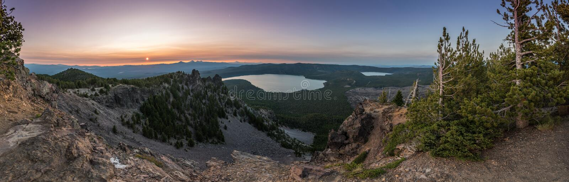 Panorama de Paulina Peak View photo stock