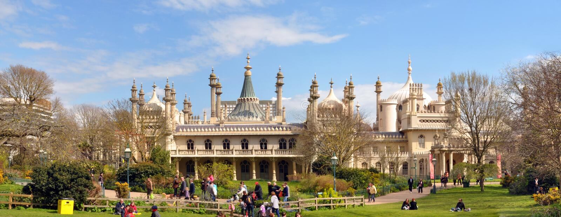 Panorama de pavillon de l'Angleterre - de Brighton image stock