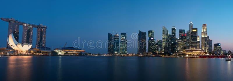Panorama De Paysage Urbain De Singapour Photo éditorial