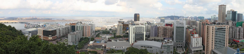 Panorama de paysage urbain de Macao, Chine photographie stock libre de droits
