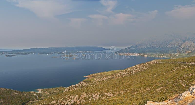 Panorama de Peljesac photo libre de droits
