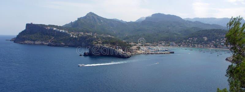 Panorama de Peurto de Soller Majorque Espagne photos libres de droits
