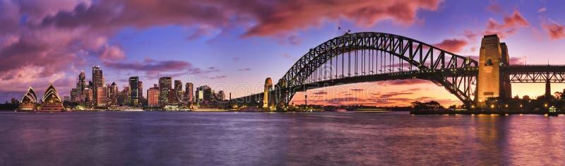 Panorama de pilier quitté par Milsons de Sydney CBD images libres de droits