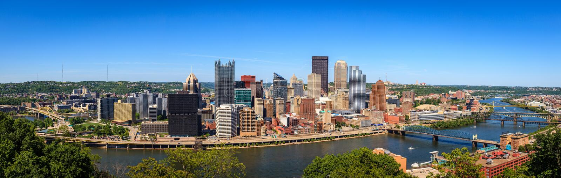 Panorama de Pittsburgh fotografía de archivo