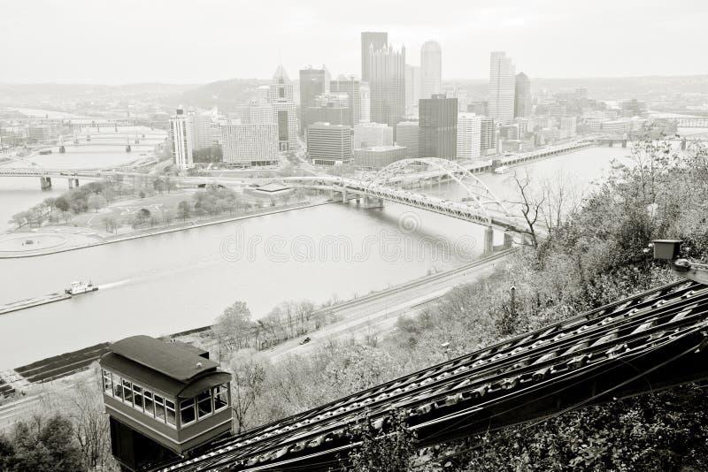 Panorama de Pittsburgh fotos de archivo