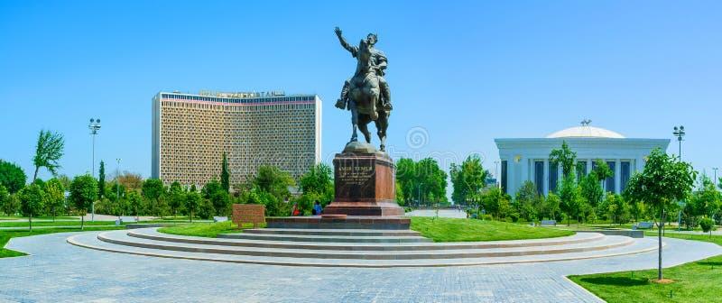 Panorama de place d'Amir Timur image libre de droits