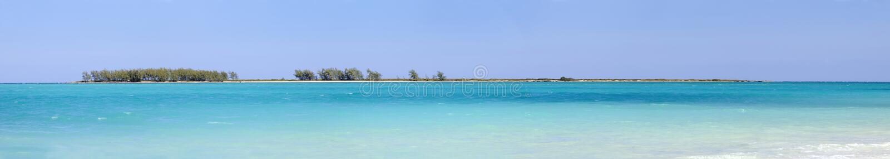 Panorama de plage de Cocos de Cayo, Cuba photographie stock