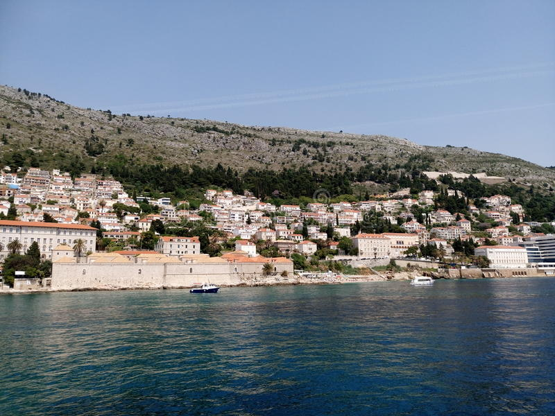 Panorama de plage de Dubrovnik photographie stock