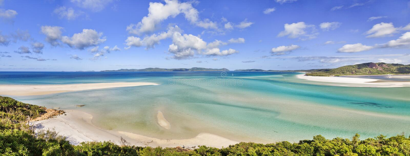 Panorama de plage de Pentecôtes de QE photo stock