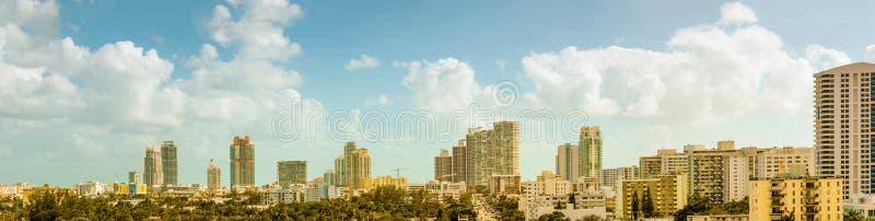 Panorama de plage du sud photos libres de droits