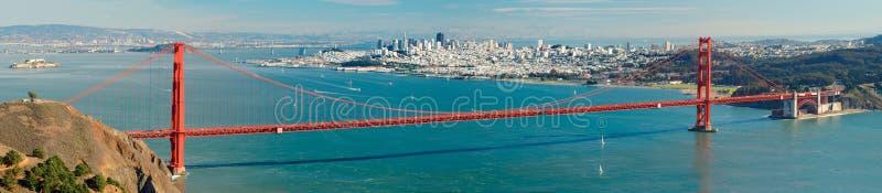 Panorama de pont en porte d'or photographie stock libre de droits