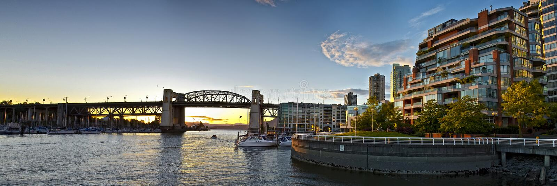 Panorama de pont en rue de Burrard image stock