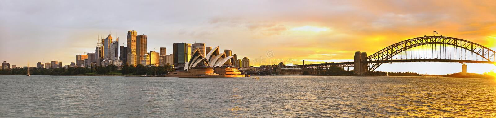 Panorama de port de Sydney grand image stock