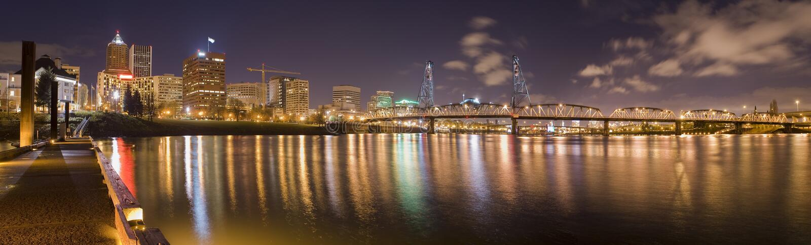 Panorama de Portland, Oregon imagem de stock royalty free