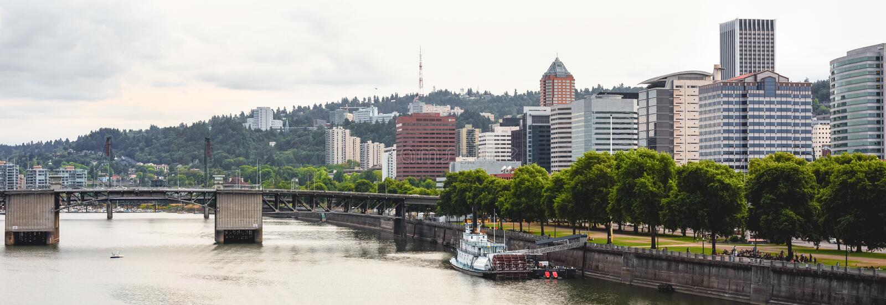 Panorama de Portland Oregon imagens de stock royalty free