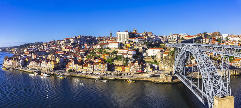 Panorama de Porto bonito fotos de stock royalty free