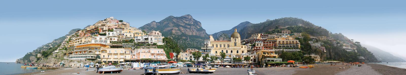 Panorama de Positano, Itália fotografia de stock