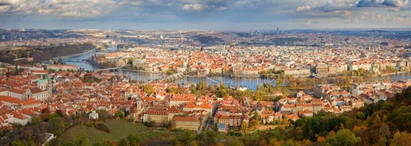 Panorama de Praga foto de stock royalty free