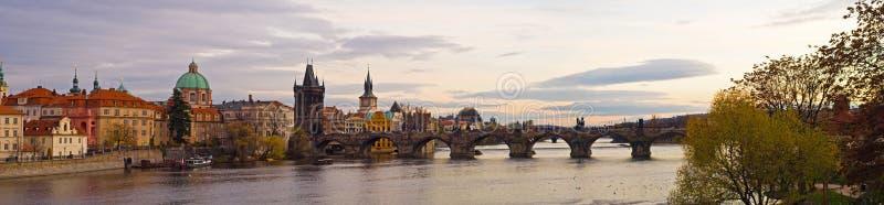 Panorama de Praga fotos de stock