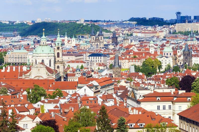 Panorama de Praga, república checa fotografia de stock royalty free