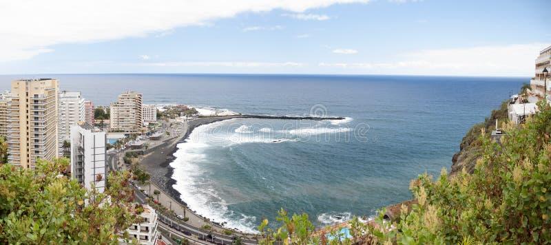 Panorama de Puerto de la Cruz. Tenerife fotos de stock royalty free