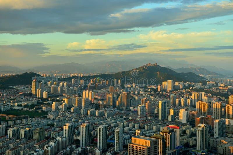 Panorama de Qingdao foto de archivo libre de regalías