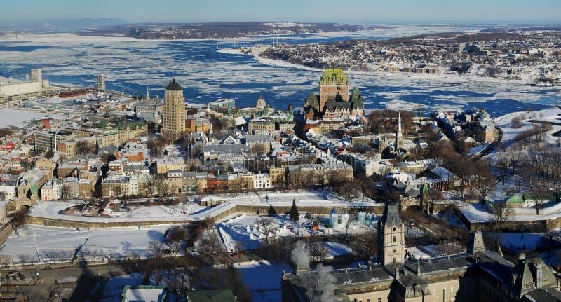 Panorama de Quebec City imagen de archivo libre de regalías