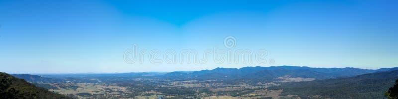 Panorama de Queensland Austrália da escala de D Aguilar imagem de stock
