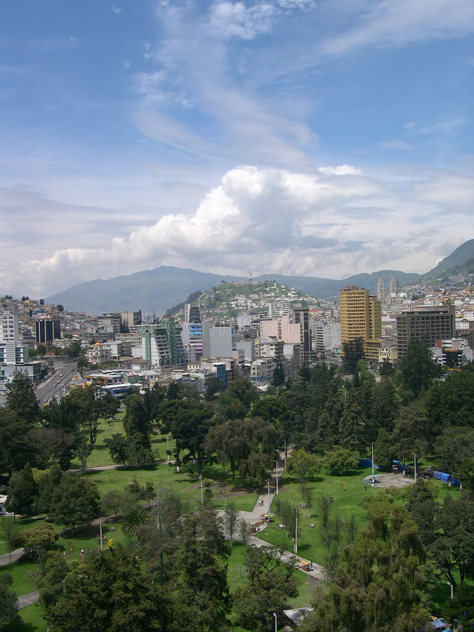 Panorama de Quito fotografia de stock royalty free