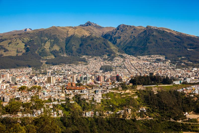 Panorama de Quito, Equateur image stock
