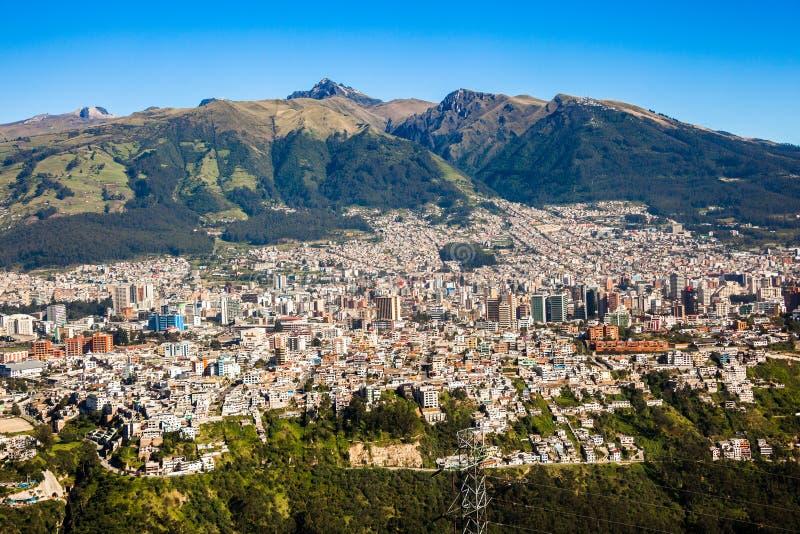 Panorama de Quito, Equateur photo stock