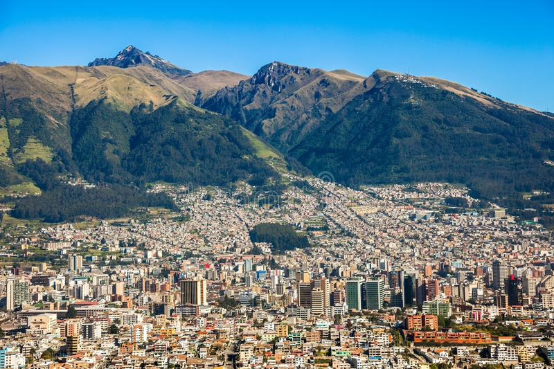 Panorama de Quito, Equateur photo stock