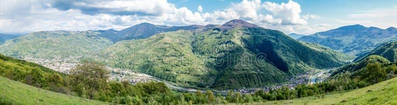 Panorama de Rakhiv foto de stock