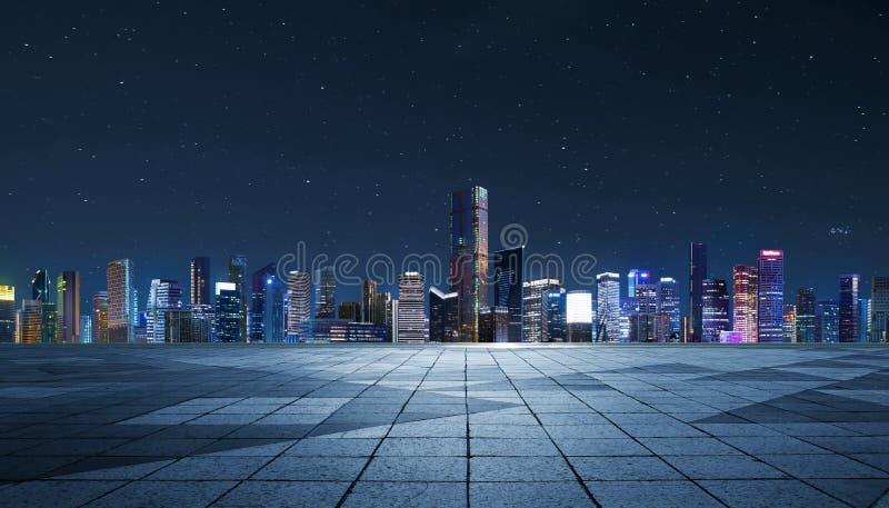 Panorama de rascacielos en una ciudad moderna fotos de archivo