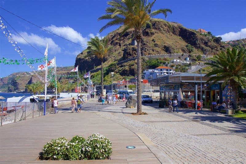 Panorama de Ribeira Brava en Madeira, Portugal fotografía de archivo