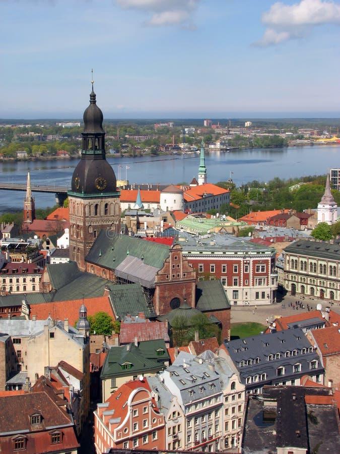 Panorama de Riga fotos de archivo libres de regalías