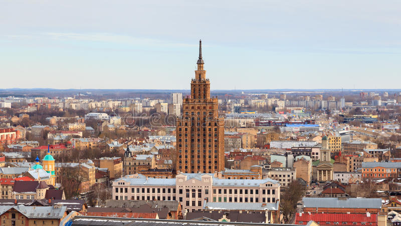 Panorama de Riga photo stock